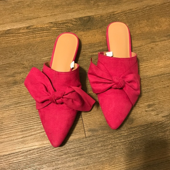 a10c9d5ab4ea A New Day Shoes | Target Pink Bow Mules Flats | Poshmark